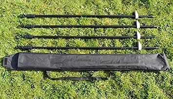4x solid steel decoy hide poles including carry bag Pigeon shooting hide poles