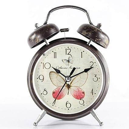DDGOD Vendimia Reloj,Clásico Análogo Reloj Despertador Twin ...
