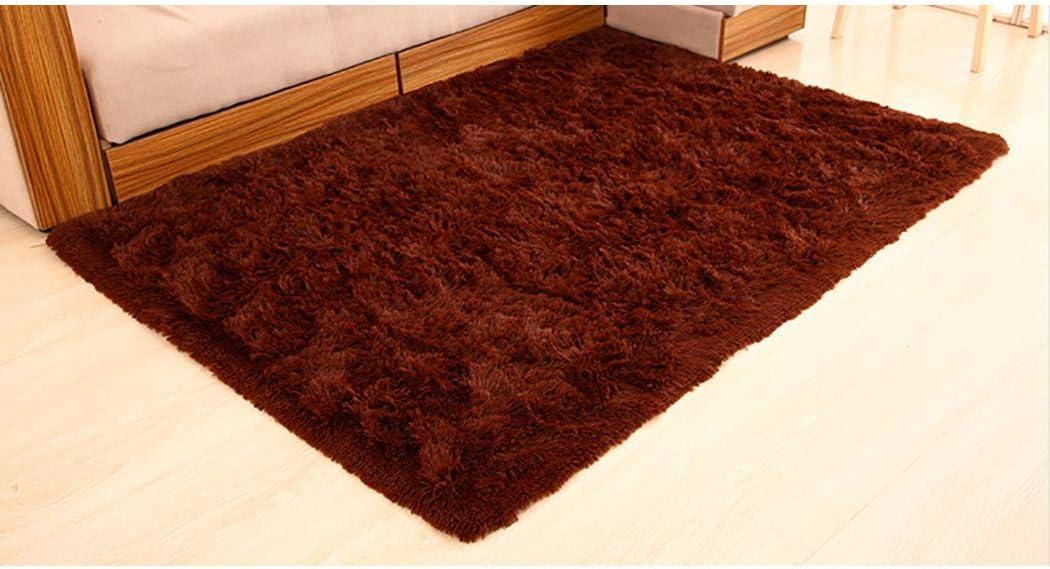 40 x 60cm Juzie Household Super Soft Faux Fur Rug Modern Shaggy Carpet Soft Plush Area Rugs Living Room Bedroom Anti-Slip Area Rug