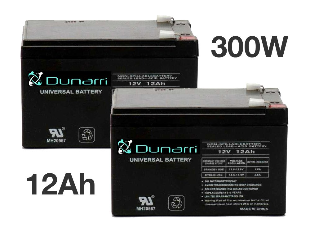 Cruzin Cooler 300W Battery Replacement Set