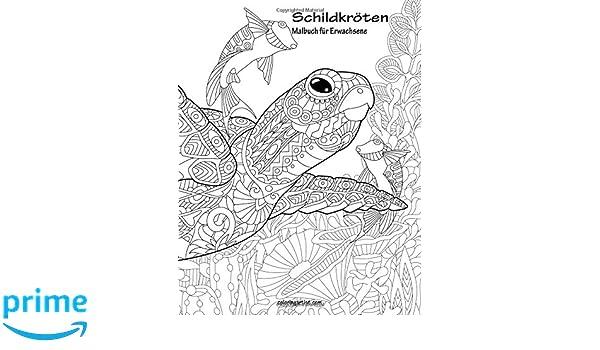 Amazon.com: Schildkröten-Malbuch für Erwachsene 1 (Volume 1) (German ...