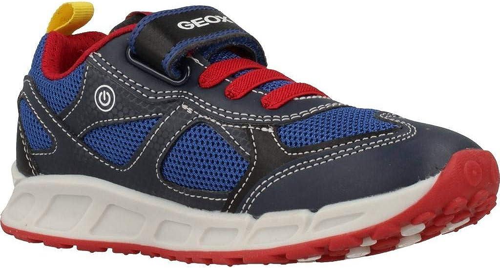 Geox J Shuttle A Marine//Rouge Engrener Enfant Formateurs Chaussures