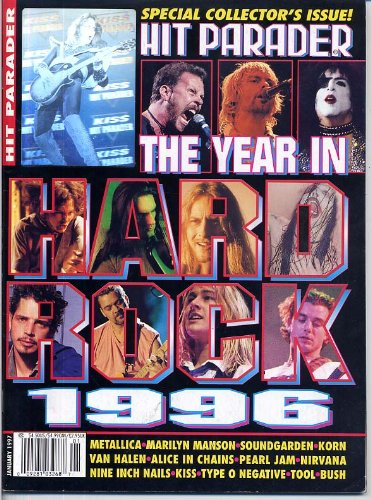 Hit Parader Magazine THE YEAR IN HARD ROCK 1996 Kiss TYPE O NEGATIVE Nirvana MARILYN MANSON Tool ALICE IN CHAINS January 1997 C