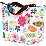 Cosaga Waterproof Picnic Insulated Fashion Lunch Cooler Tote Bag Travel Zipper Organizer Box