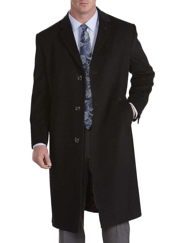 Jean-Paul Germain Big and Tall Sander Top Coat (44 Short, Black)