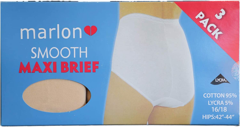 Marlon Smooth Maxi 95/% Cotton Full Briefs Black Various Sizes