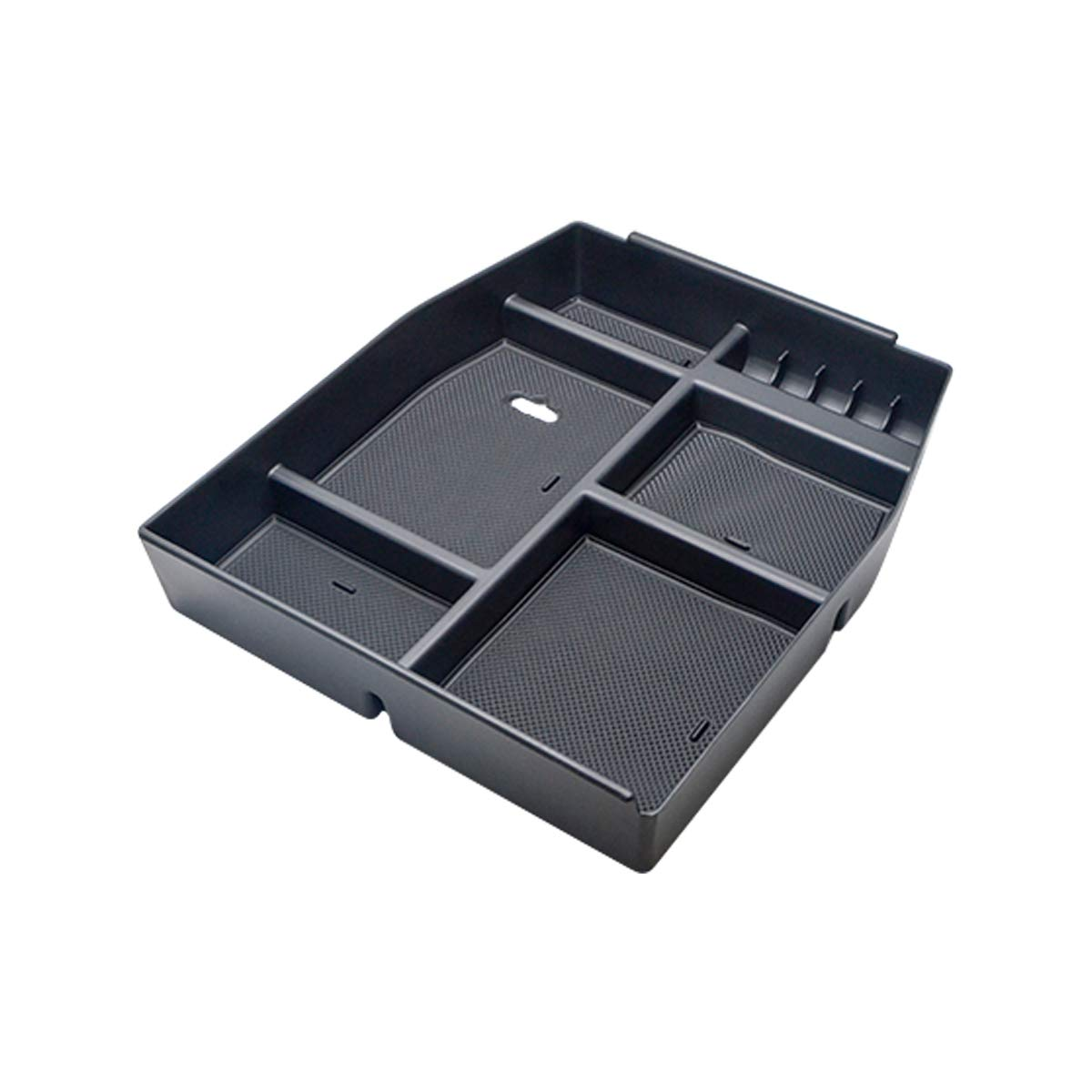 Center Console Armrest Insert Organizer ABS Tray Pallet Storage Box Container for Ford F150 2015-2017