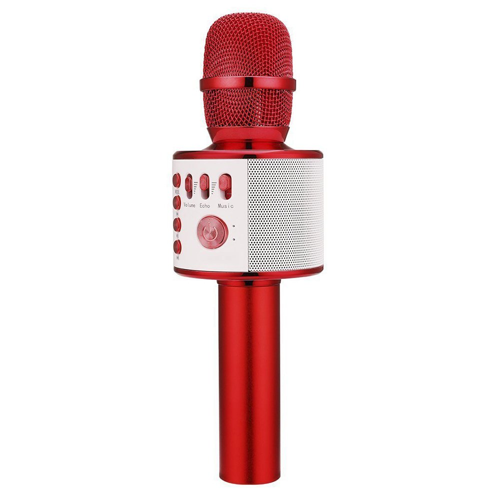 Cheryu Wireless Bluetooth Microphone for iPhone/Android/iPad/Sony/TV/PC and All Smartphone, Portable Handheld 3-in-1 Multi-function Karaoke Mic for Kids,Adults Home KTV Outdoor Party(Red)