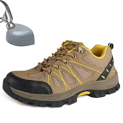 SUADEEX Mujer Hombre Zapatillas de Seguridad Punta de Acero Zapatos de Trabajo Entrenador Unisex Zapatillas de Senderismo: Amazon.es: Zapatos y complementos