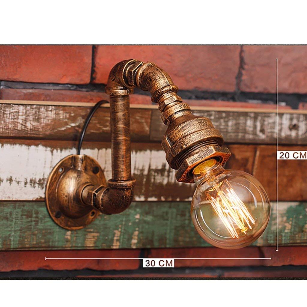 Unbekannt PIN Loft Retro Industriestil Eisen Pipeline Wandleuchte Lampen Beleuchtung Dekoration Wandleuchte Licht Lampen