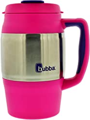 bubba 34oz dual-wall insulated classic desk mug, beach babe w/boho purple