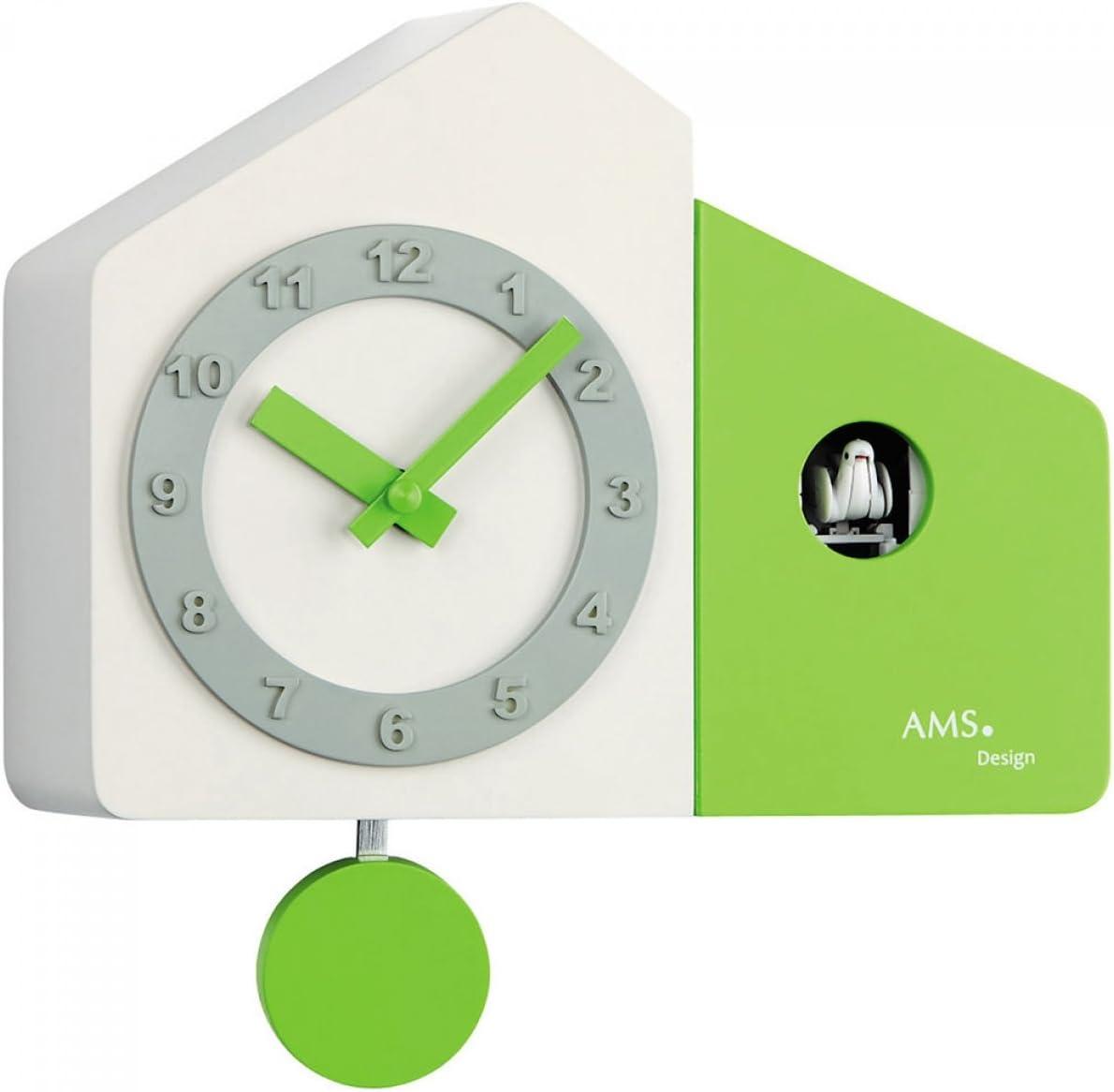 AMS Uhrenfabrik Clock, Silver, 18 x 10 x 340 cm