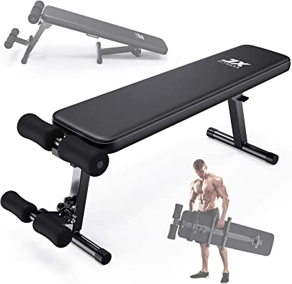 UK Adjustable Weight Bench Workout Flat Incline Decline Sit Up Lifting Barbell