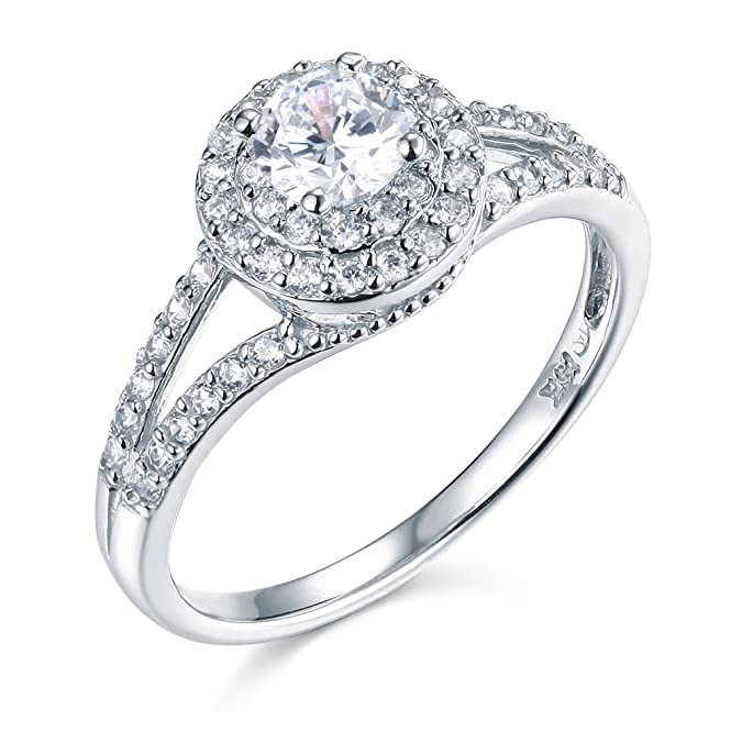 Review 14k Yellow OR White Gold SOLID Wedding Engagement Ring