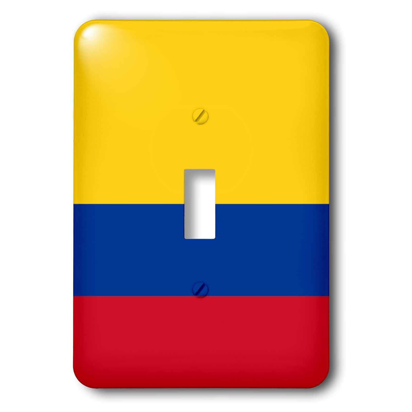 3dRose lsp_158280_1 Flag of Colombia Colombian Gold Yellow Blue Red Horizontal Stripes Patriotic South America American Light Switch Cover