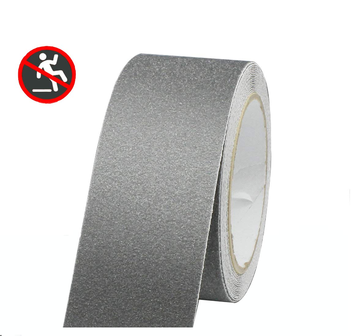 Professional Non-Slip Safety Tape, High Traction Grip for Stairs, Steps, Boats, Garage, Ladders, Slip-Resistant Strong Adhesive Treads, Indoor Outdoor (Width: 2 in × Length: 16.4 ft, Grey)