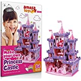 Make Your Own Princess Castle - 3D Puzzle Play Set - Ideal Gift for Grils 5-10 Educational Toys Craft for Kids (84 pieces)