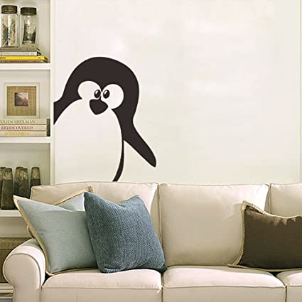 Amazon.com: Wall Art Mural Penguin Stick&Peel Wall Stickers Penguin ...
