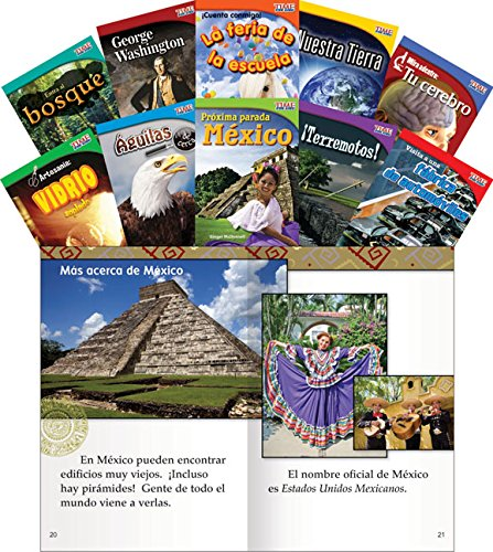 Teacher Created Materials - TIME for Kids Informational Text (Spanish) Set 1 - 10 Book Set - Grade 2 - Guided Reading Level I - M ()