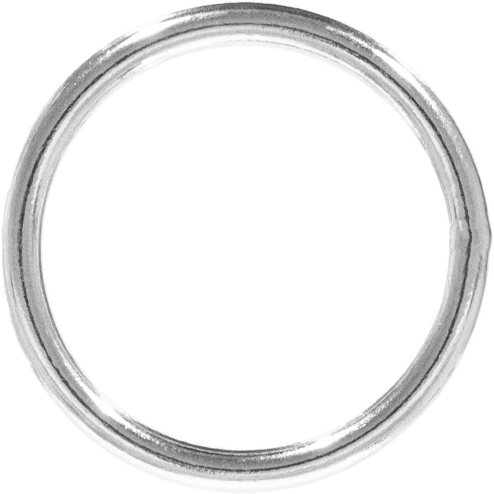 Craft County Welded Steel O-Rings Decoration and Art for DIY Projects 1 Inch Diameter X 2-Pack