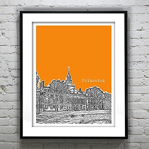 Princeton New Jersey Art Print Poster - Princeton, Nj - Version 1