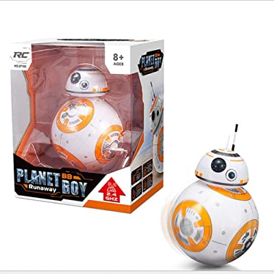 Star Planet Wars BB-8 Intelligent Remote Control Robot Magnetic Rolling Spherical Planet Model Children Toys: Toys & Games