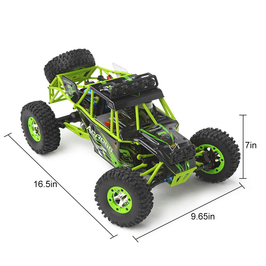 ASfairy RC Car 1:12 Scale 4WD High Speed 50km/h Off -Road/Rock Climbing Buggy Car 2.4Ghz Electric with LED Light/Waterproof/Shockproof Boys' Suprise Gift by ASfairy (Image #6)