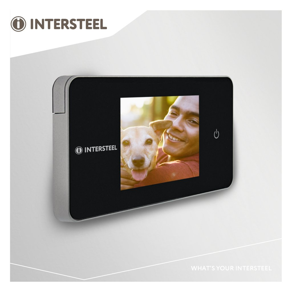Intersteel Digitaler T/ürspion /Schwarz//Silber 4055/