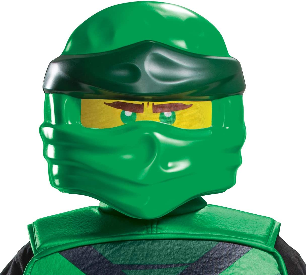 Lego Ninjago Legacy Themed Character Costume Face-mask Kids Size Green Lloyd Ninjago Mask