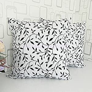 Amazon.com: 2pcs 45X45cm Small Willow Flower Flocking Throw Pillow Case Cover: Home & Kitchen
