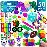 (50 Pcs) Fidget Poppers Popit Toy Pack Push Pop Bubble Popping Set It Mini Poppet Figit Package Figetget Spinn