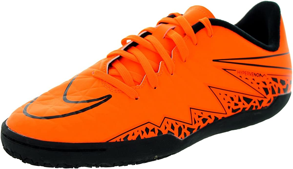 exhaustivo radio Descortés  Nike Youth Hypervenom Phelon II Indoor (Total Orange/Black/Total Orange)  (11C) | Soccer - Amazon.com