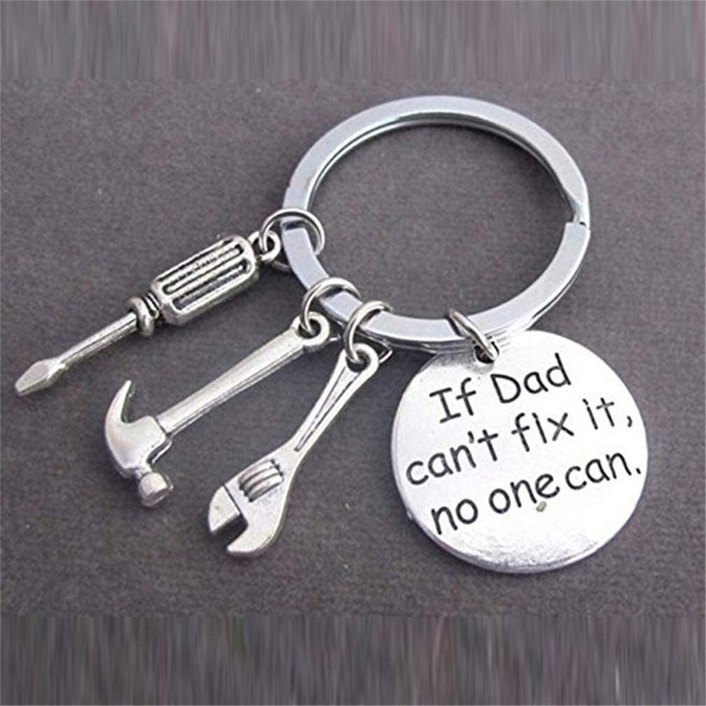 If Dad Can't Fix It, No One Can. DIY Screwdriver, Spanner & Hammer Model Key Ring ONLY 85P @ Amazon
