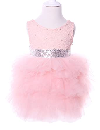 Amazon cilucu flower girls dresses baby party dress toddlers amazon cilucu flower girls dresses baby party dress toddlers tutu sequin lace dress beaded pinksilver clothing mightylinksfo