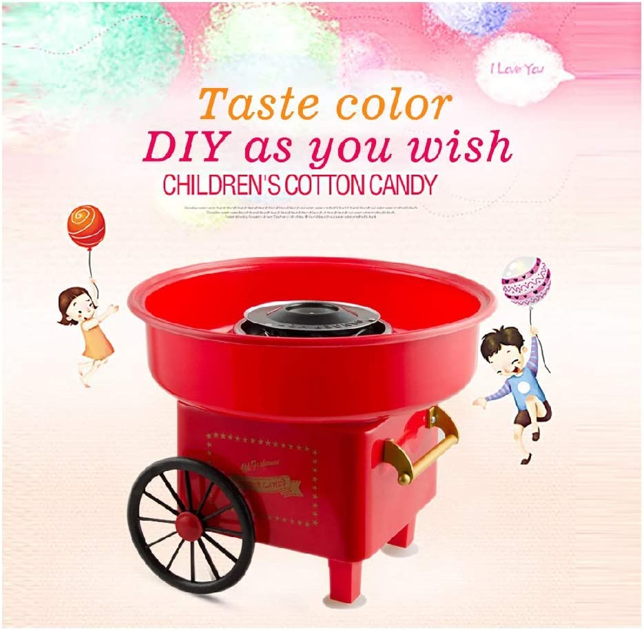 EnJoCho Mini Cotton Candy Machine for Kids Perfect for Family Party Hard and Sugar Free Countertop Classic Cotton Candy Maker Pink Trolley Fashion Cotton Candy Maker Pink