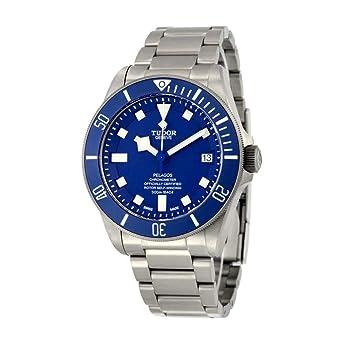 4b0778caf8d Amazon.com  Tudor Pelagos Blue Dial Automatic Mens Watch 25600TB ...
