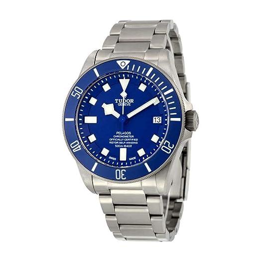 b76c4e3a4571 Tudor Pelagos 25600TB-BLRS - Reloj de hombre con esfera azul  Tudor   Amazon.es  Relojes