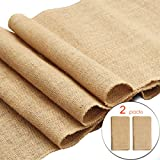 #5: Ivankee 2 Pack Burplap Table Runners,12 X 108 Inches,Natural Jute Hessian Table Runner,Perfect For Rustic Party & Events