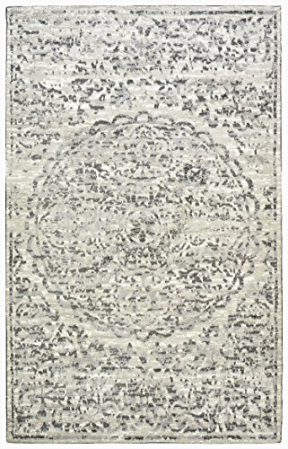 Stone & Beam Contemporary Floral Medallion Rug, 5' x 8', Teal by Stone & Beam