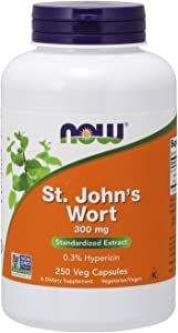 NOW Supplements, St. John's Wort 300 mg, 250 Veg Capsules