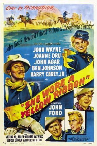 Amazon.com: She Wore a Yellow Ribbon Movie Poster (11 x 17 Inches - 28cm x  44cm) (1949) Style C -(John Wayne)(Joanne Dru)(John Agar)(Ben  Johnson)(Harry Carey Jr.)(Victor McLaglen): Prints: Posters & Prints