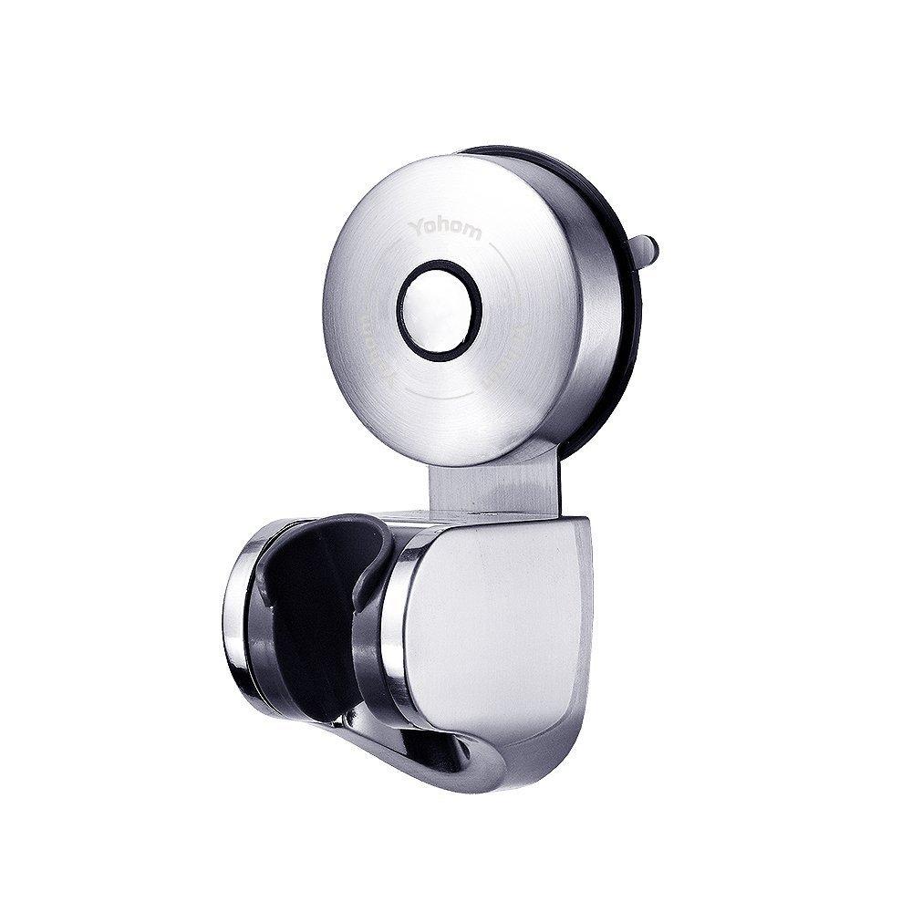 YOHOM 3 piezas Accesorio serie de acero inoxidable con vacía ventosa en cuarto de baño y cocina, Toalla Barra de Ventosa 55cm, 2 x Gancho de Ventosa de Toalla, Acabado cepillado Ltd