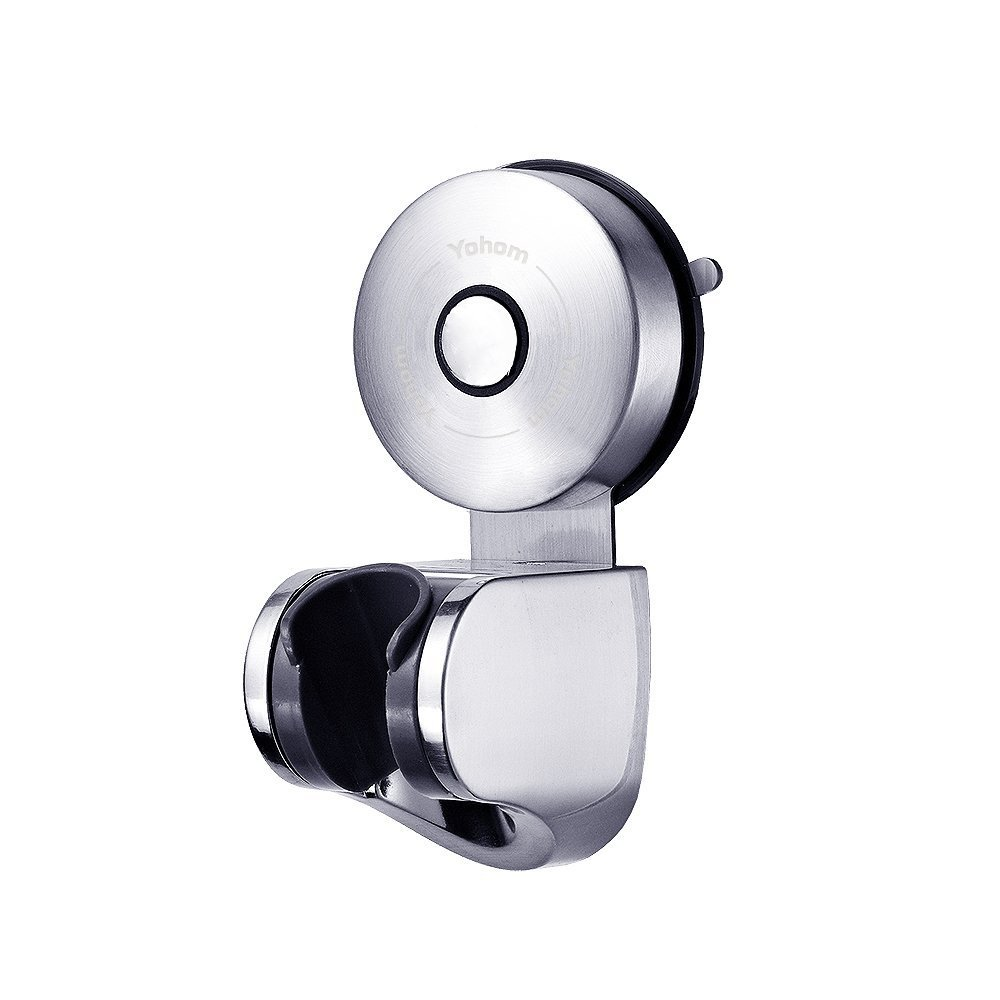 YOHOM 304 Stainless Steel Powerful Vacuum Suction Cup Adjustable Handheld Shower Head & Bidet Sprayer Holder,Removable Wall Mount Support Bracket Stand Clip For Bathroom Accessories,Brushed Finish by YOHOM
