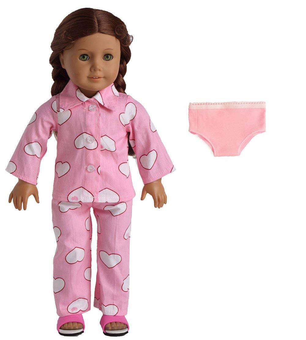 Cute Doll Clothes Underwear Pants Pajama Dress for 18 inch Girl Toy