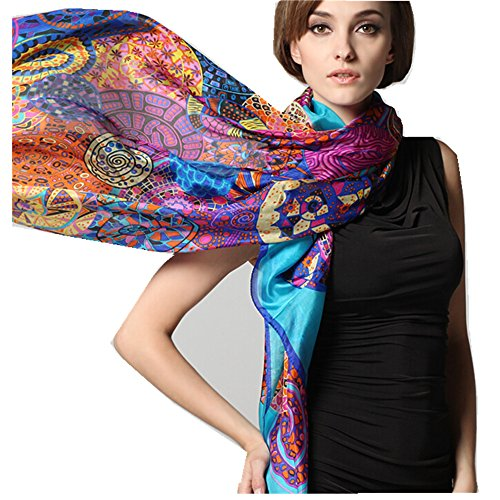 Print Silk Wrap - Novels-wear 2017new 100%mulberry Silk Scarf Wrap Luxury Wheels Print