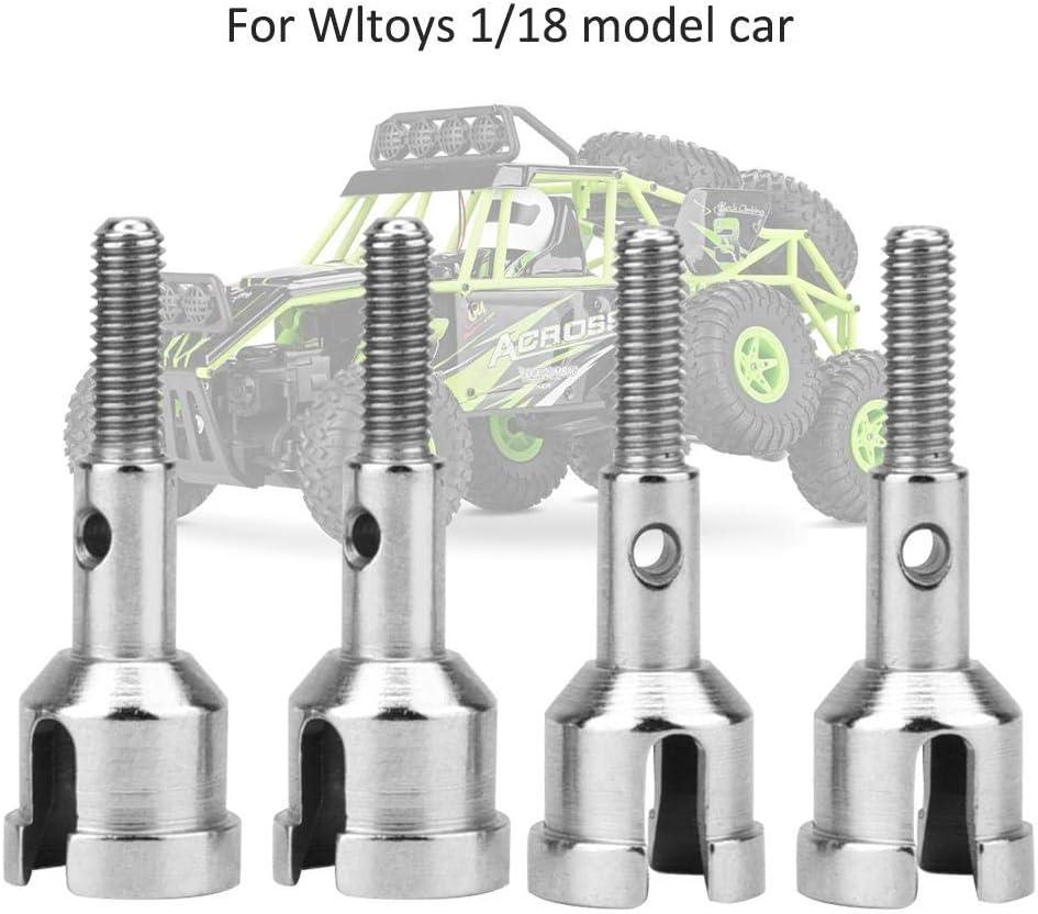 4 St/ücke Metall Radachse Welle Zubeh/örteile f/ür WLtoys 1//18 Modellauto RC Auto Radachse