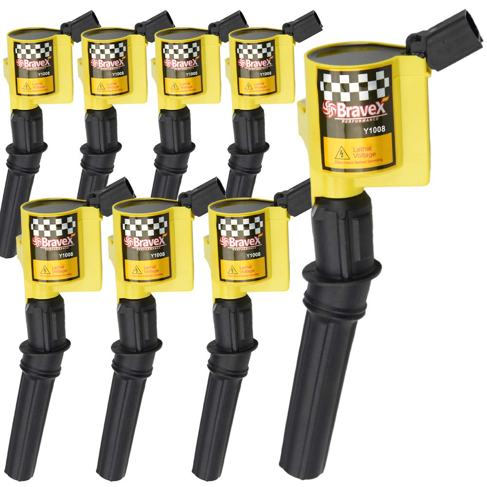 Upgrade 15/% More Energy For Ford F-150 F-250 F-350 4.6L 5.4L V8 CROWN VICTORIA EXPEDITION MUSTANG LINCOLN MERCURY Compatible /& DG508 DG457 DG472 DG491 YELLOW High Performance Ignition Coil 8 Pack