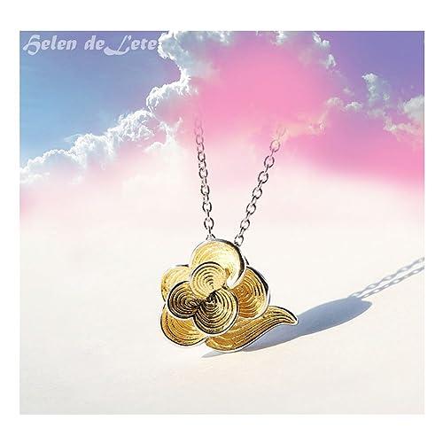 Amazon.com  Helen de Lete Golden Cloud Eternity Love Sterling Silver ... 35fa69c1c2