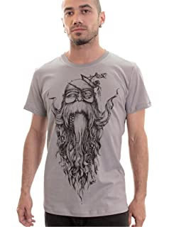 Camiseta Barbado con Viejo Sabio - Moda Hipster con Arte gráfico Original de  Plazmalab para Hombre 79c8135b6f8
