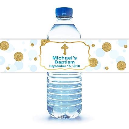 Amazon Com 100 Personalized Baptism Water Bottle Labels 8